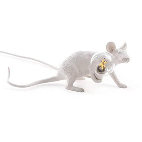 CLFINE Modern Resin Mouse Lamp Table Lights Creative Desk Lamps Bedside Gift Decoration (Running) (Bedside Monkey Lamp)