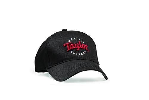 Taylor Guitars Black with Red/White Embroidered Taylor Logo Cap (One - Embroidered Embossed Hat