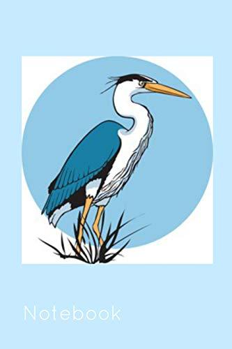 Notebook: Blue Heron Crane Book Notepad Notebook Composition and Journal Gratitude Diary por Retrosun Designs