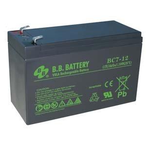 B.B. Battery 12V 7Ah Battery T2 Terminal, BC7-12-T2