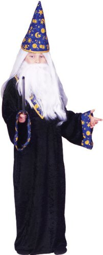 Child's Black Magic Wizard Costume (Size:Med 8-10) by RG Costumes