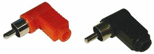 VS Electronic 609017 Kunststoff Cinch-Winkelstecker, Rot VS Electronic Vertriebs GmbH