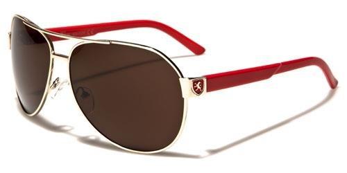 Red Gold Brown Black Sunglasses Designer Retro Mens Ladies Large Vintage Aviator - America Sunglasses Shaped