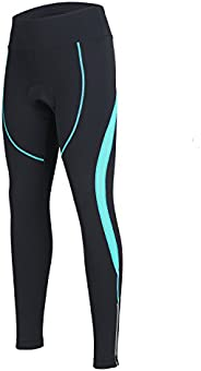 Women's Cycling Pants 3D Padded Compression Tight, Long Bike Bicycle Pants with Wide Waist