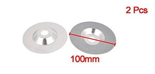 eDealMax 100mm Dia Diamond Cut Off cortador de rueda de Disco Die Grinder tono de Plata 2pcs