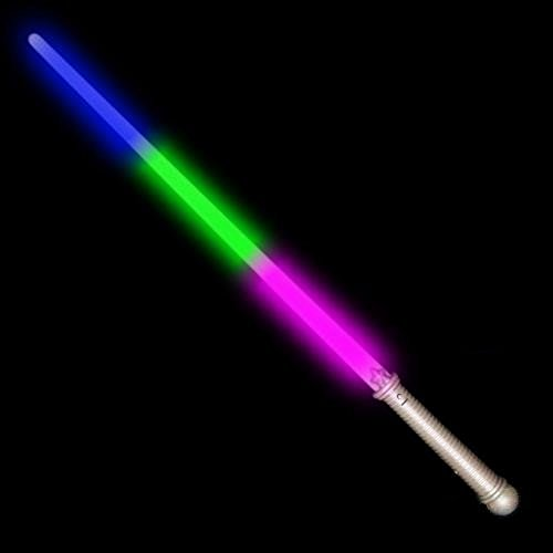 Rainbow Lightsaber Glowing Tri Color Costume product image