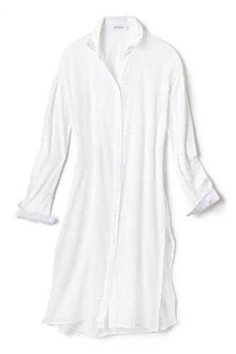 Stateside Women's Cottons Shirt Dress Swim Cover Up White M by Stateside (Image #3)