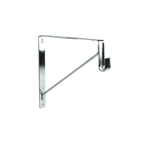 EPCO 848-PC Polished Chrome Shelf & Rod Bracket for Oval Closet Rods