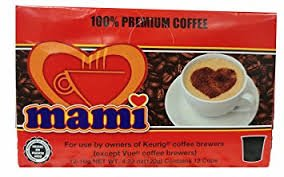 Cafe Mami Coffee Capsules for Keurig Machine - Ground Puerto Rico Coffee - 12 capsules per Box
