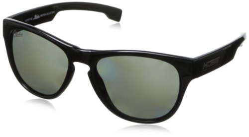 Hobie Bondi Oval Sunglasses,Shiny Black,51 - Glass Bondi