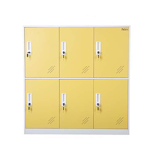 - Steel Office Locker Cabinet with Keys, School and Home Storage Locker Organizer,Kids Locker for Cloth and Toy Organizer,Living Room Boy and Girl Metal Storage Locker Cabinet (Yelllow)