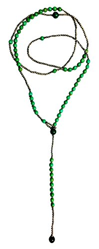 Bijoux De Ja Simulated Green-Turquoise Howlite Beads Y-Necklace 34 Inches by Bijoux De Ja (Image #5)