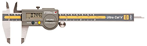 Fowler 54-100-502 Stainless Steel Frame S_Cal Work Electronic Caliper, 6'' Maximum Measurement