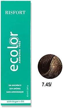 Tinte Ecolor Nº 7.45 Rubio Cobre Caoba: Amazon.es: Belleza