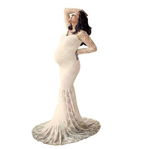 Fotografia Matrimonio Beige Fotografico Pizzo Servizio Fashion In Maxi Gravidanza Giovane Abiti Estivo Maternità Lunga Saoye Abito Premaman qTtaE0a