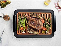 Smokeless Electric Grill and Griddle - Indoor BBQ Grill, Portable and Nonstick As Seen On TV