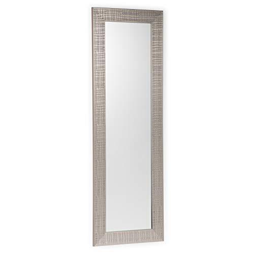 Simpli Home AXCMMIL-5417 Milan 53 inch x 17 inch Rectangular Transitional Décor Mirror in Nickel