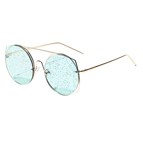 Women Sunglasses, 1KTon Fashion Round Frame Classic Tone Mirror Sequins Multicolor Lens Eyewear