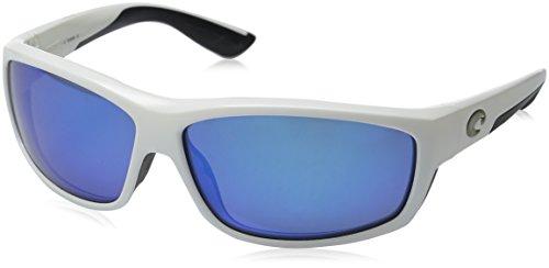 Costa Del Mar Saltbreak Sunglasses, White, Blue Mirror 400 Glass - Costa 400 Lenses