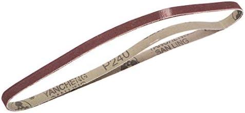 uxcell 研磨ベルト サンディングベルト サンディングベルト 240グリット 酸化アルミニウム 9mm x 533 mm 2個入り