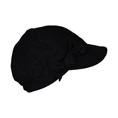 Landana Headscarves Ladies Winter Cap with Bow - Black by Landana Headscarves