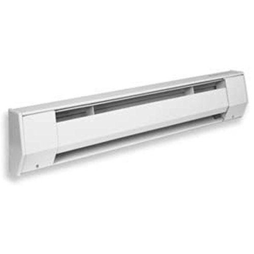 King 2K2405BW 500-375-Watt 240/208-Volt 27-Inches Baseboard Heater, Bright White (Baseboard 240 Heater)