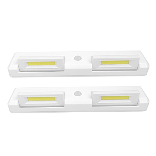 Seville Classics Adjustable Motion Activated LED Cabinet Lights (2-Pack), - Countertop Bathroom Sink Seville