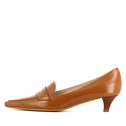 Evita Shoes Lia Damen Pumps Glattleder Cognac