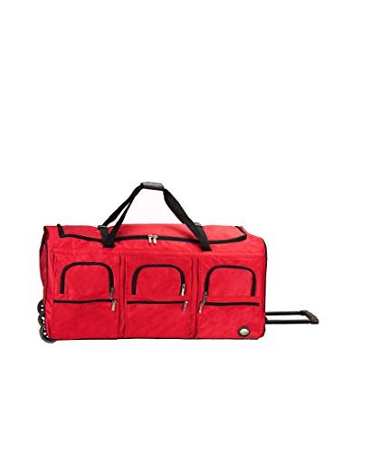 (Rockland Luggage 40 Inch Rolling Duffle Bag, Red, X-Large)