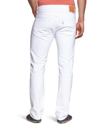 Original Levi's Straight Blanc Fit White optic 501 Homme 0651 Jeans HHRwT4q