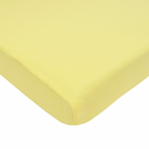 TL Care Supreme 100% Natural Cotton Jersey Knit Fitted Crib Sheet for Standard Crib and Toddler Mattresses, Maize, 28