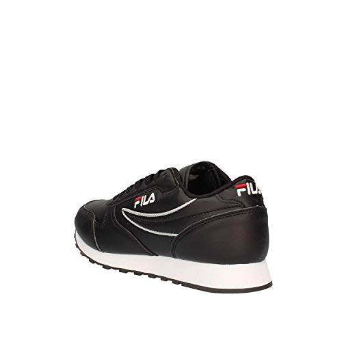 In 1010308 Orbit Sneakers Noir Pelle Low Donna Nera Scarpe Fila 25y q4XZn