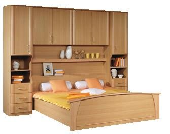 Over Bed Storage Unit With Bed
