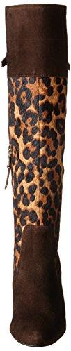 Bota Halina Para Mujer Lauren Ralph Lauren Marrón Oscuro / Leopard Kid Suede / Leopard Haircalf