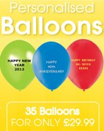 100 Personalised Balloon MID blueE colour 11 Inch qualtex