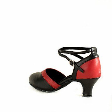 Preto Couro 5 Senhoras De Modernos Cn Personalizáveis Dança Vermelho Calcanhar De Interior Xiamuo Us5 Eu36 Iniciante 5 Preto sapatos Saltos 35 Uk3 Combinados 4xqwYdO