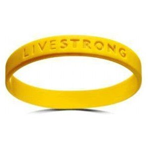 Official Live Strong Lance Armstrong Yellow Cancer Livestrong Rubber Wristband Bracelet Adult Size (Lot of 6 for One Price) ()