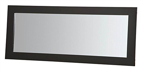 (Plateau SL-MIR 44 x 20 B Wood Mirror, 44 by 20-Inch, Black Satin Paint Finish)