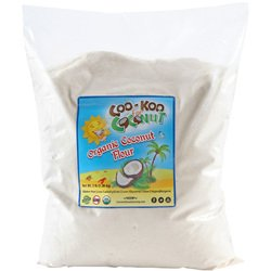 Organic Coconut Flour 3 lb, w/ Gluten Free Recipe E- Cookbook, Fine, Raw, Paleo Friendly Low Carb Non-GMO Certified