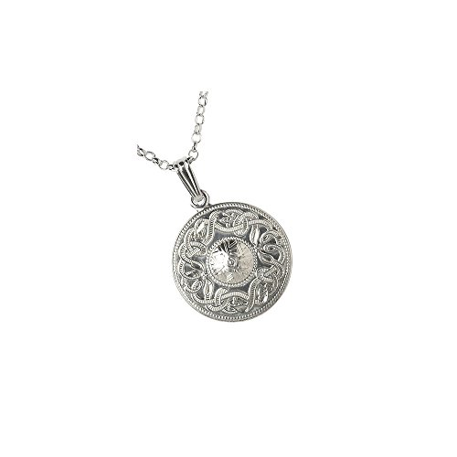 Celtic Warrior Necklace Sterling Silver Made in Ireland (Sterling Silver Shield 3/4