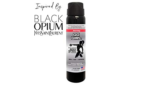 Go Girl - Women's Post Workout Body Spray - Breaks Down Most Foul Odors at The Molecular Level on Skin, Hair and clothing  - 3.5 oz Spray [Journey]