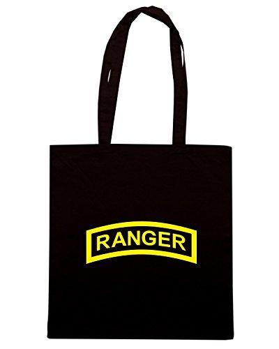 T-Shirtshock - Bolsa para la compra TM0386 ranger tab usa Negro
