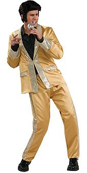 Rubie's Elvis Deluxe Gold Satin Suit Adult Costume RUB-889141XL-C