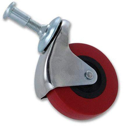 Red Rubber Swivel Caster Wheel 2