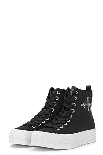 Calvin Zazah Femme Chaussure Re9794 Sneakers Klein Noir Nylon Jeans 6WrxRr