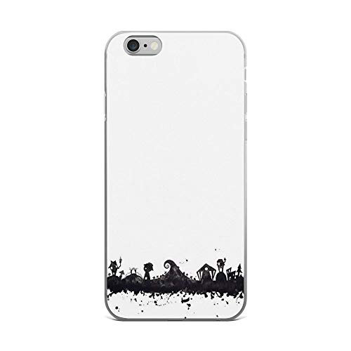 iPhone 6 Plus/6s Plus Pure Clear Case Cases Cover Halloween Town Nightmare Before Christmas Inspired Watercolor Sk -