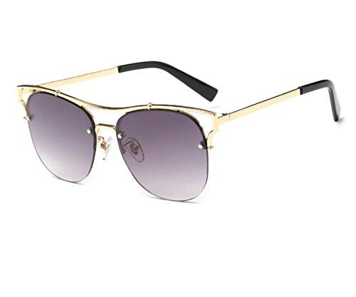 Konalla Fashion Half Cat Eye Frame Flash Mirror Women's Sunglasses - Sunglasses Tuscany