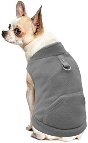 Fleece Autumn Winter Cold Weather Dog Vest Clothes with Zipper Small Medium