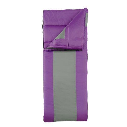 Eureka! Lightning Bug 45 Degree Childrens Rectangular Sleeping Bag; Comfortable, Lightweight Three-Season, Thermally Efficient Bag for Kids Camping – Purple – Children's