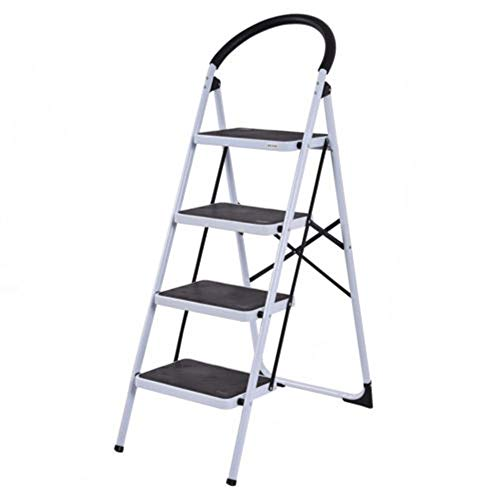 MY HOPE Ladder Fordable Heavy Duty Supported load 330 Lbs 4 Step Industrial Lightweight. by MY HOPE (Image #8)